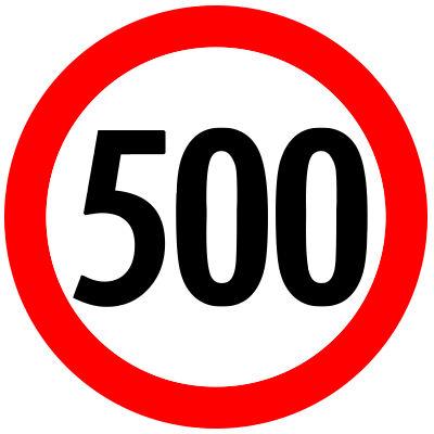 Wann ist die 500Kmh fällig?